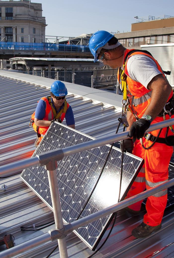 installing of solar panels
