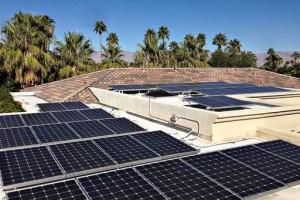 solar panels on flat roof
